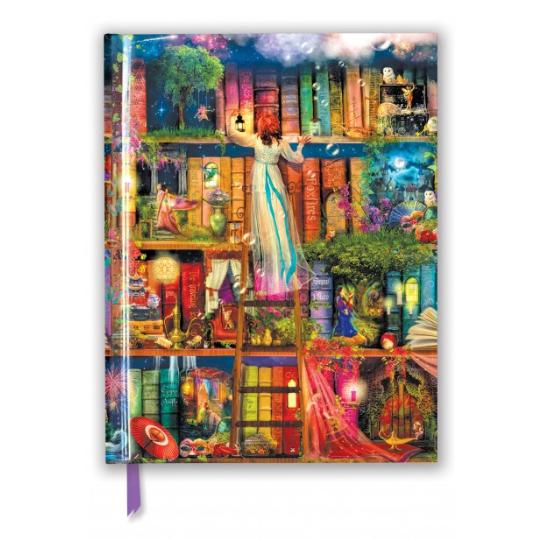 Treasure Hunt Bookshelves A4 Sketchbook