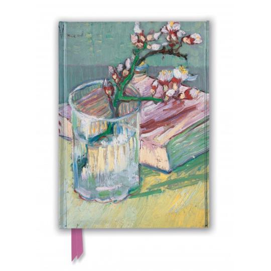 Van Gogh Flowering Almond Branch Foiled Journal