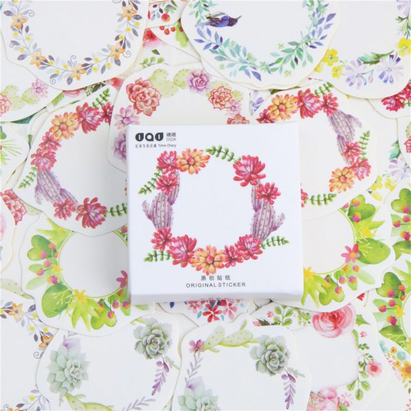 Floral Wreath Stickers