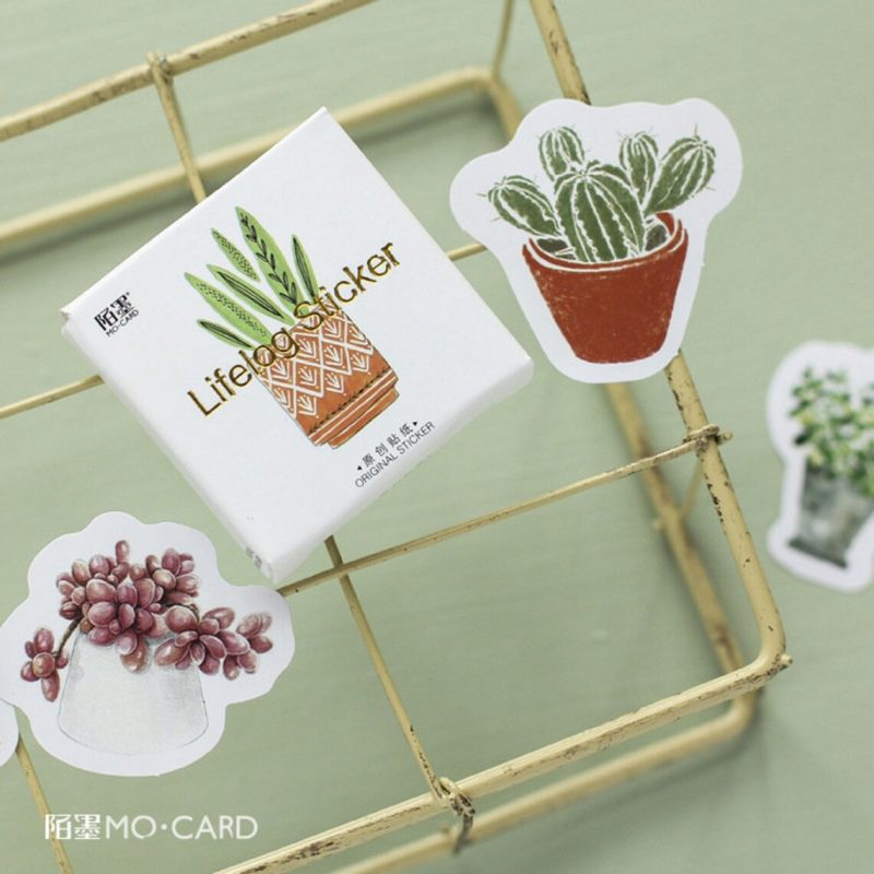 Watercolour Cactus Stickers