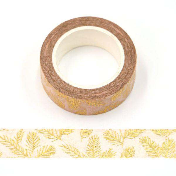 Gold Pine Needles Washi Tape