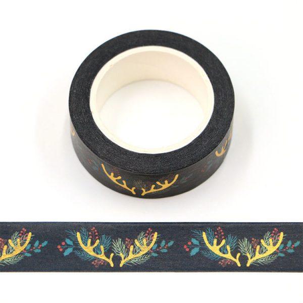 Gold Foil Antler Washi Tape