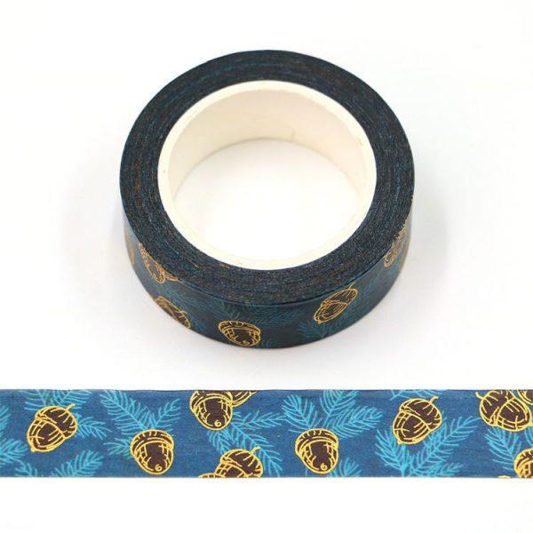 Foiled Acorn Washi Tape