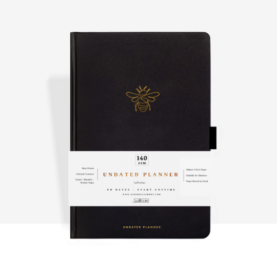 Undated Planner A5 Gold Bee