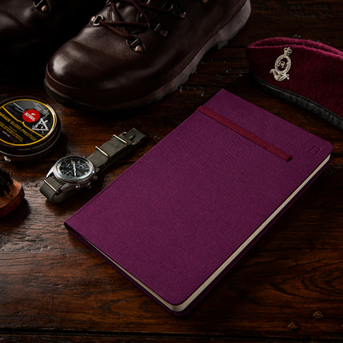 Modena A5 Classic Linen Hardcover Notebook Ruled Maroon Beret