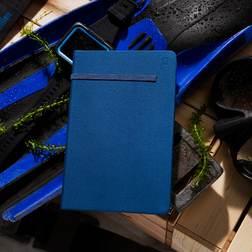 Modena A5 Classic Linen Hardcover Notebook Ruled Admiral Blue