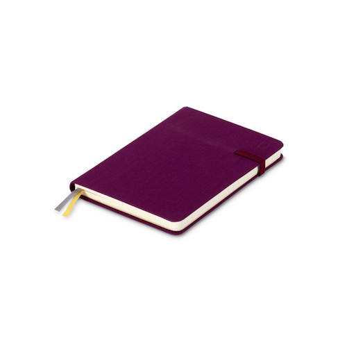 Modena A6 Classic Linen Hardcover Notebook Ruled Maroon Beret
