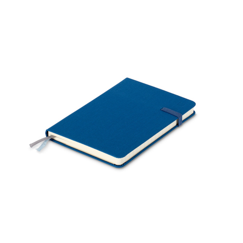 Modena A6 Classic Linen Hardcover Notebook Ruled Admiral Blue