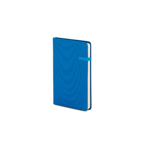 Modena A6 Bold Linen Hardcover Notebook Dotted Blue Lagoon