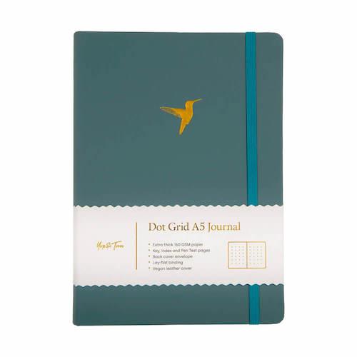 A5 Dot Grid Notebook Hummingbird